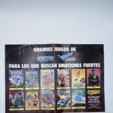 Videojogos e Consolas: POSTER GRANDES JUEGOS DE OCEAN. ERBE SOFTWARE. 29X42 CM. SPECTRUM (NO ACREDITADO) ERBE, 1986. Lote 116539431