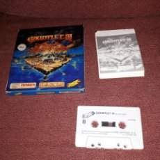 Videojuegos y Consolas: GAUNTLET III SPECTRUM 128 K EDICIÓN ESPAÑOLA COMPLETO RAREZA. Lote 123078438