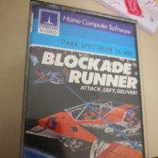 Videojuegos y Consolas: CINTA CASSETTE SINCLAIR ZX SPECTRUM BLOCKADE RUNNER EN CAJA BOXED ORIGINAL 48K 128K . Lote 128587239