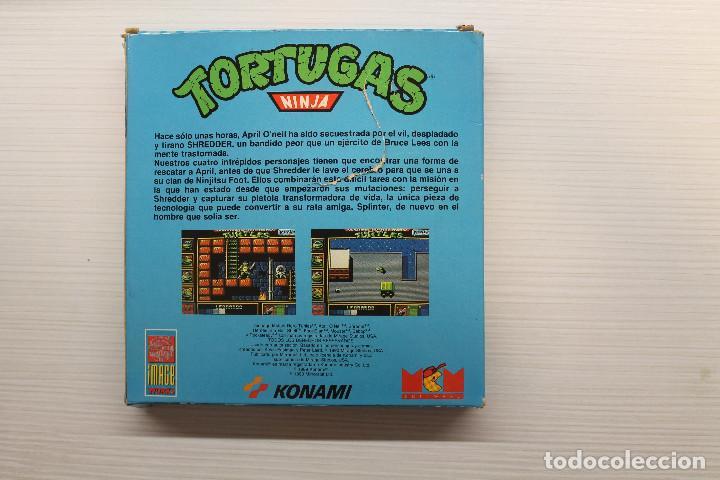 Videojuegos y Consolas: GAME FOR SPECTRUM, MCM, TORTUGAS NINJA, SPANISH VERSION, KONAMI, 1990 - Foto 3 - 129287083