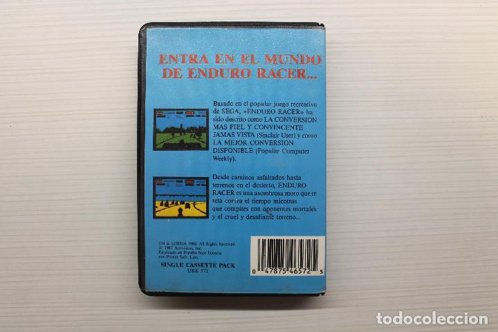 Videojuegos y Consolas: ENDURO RACER, JUEGO DE ORDENADOR SPECTRUM, ERBE - Foto 2 - 129295031