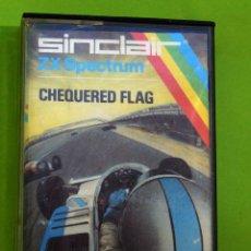 Videojuegos y Consolas: CHEQUERED FLAG VIDEOJUEGO SPECTRUM VINTAGE AÑOS 80 CASETE. Lote 130103491