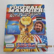 Videojuegos y Consolas: JUEGO ORIGINAL SPECTRUM CASETE FM WORLD CUP EDITION FUTBOL 1990 FOOTBALL MANAGER. Lote 133189770