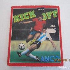Videojuegos y Consolas: JUEGO ORIGINAL SPECTRUM CASETE KICK OFF FUTBOL 1989 MADE IN SPAIN VERSION ESPAÑOLA . Lote 133192474