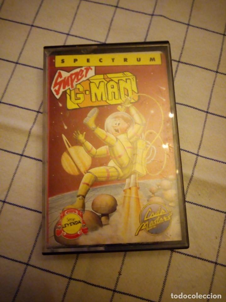 Videojuegos y Consolas: Juego Super g man, sepctrum. Amstrad cassette. - Foto 3 - 133713930