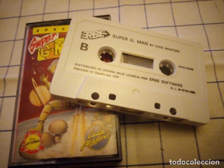 Videojuegos y Consolas: Juego Super g man, sepctrum. Amstrad cassette. - Foto 4 - 133713930
