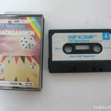 Videojuegos y Consolas: BACKGAMMON / SINCLAIR ZX SPECTRUM / RETRO VINTAGE / CASSETTE - CINTA / CLÁSICO. Lote 135328974