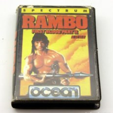 Videojogos e Consolas: SPECTRUM - RAMBO FIRST BLOOD PART II - OCEAN - 1985 - CAJA GRANDE. Lote 136149918