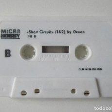 Jeux Vidéo et Consoles: CASSETTE SPECTRUM MICROHOBBY. INCLUYE JUEGO SHORT CIRCUIT Y OTROS.. Lote 138949878