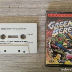 Videojuegos y Consolas: ANTIGUO JUEGO PARA SPECTRUM - GREEN BERET - AÑOS 80 - KONAMI - . Lote 138973130