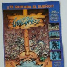 Videojuegos y Consolas: GONZALEZ DE ALFONSO AZPIRI FLYER PROMOCIONAL DE VÍDEO-JUEGO SPECTRUM AMSTRAD MSX DE ÓPERA SOFT. Lote 142336328
