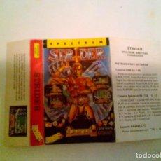 Videojuegos y Consolas: (SOLO CARATULA ORIGINAL - SPECTRUM) STRIDER.. Lote 141912998