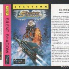 Videojuegos y Consolas: SILENT SHADOW DE ALFONSO AZPIRI CARÁTULA DE VÍDEO-JUEGO SPECTRUM SIN USAR. Lote 143102358