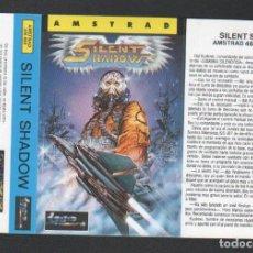 Videojuegos y Consolas: SILENT SHADOW DE ALFONSO AZPIRI CARÁTULA DE VÍDEO-JUEGO AMSTRAD SIN USAR. Lote 151303989