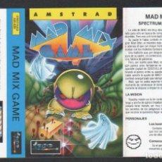 Videojuegos y Consolas: MAD MIX GAME DE ALFONSO AZPIRI CARÁTULA DE VÍDEO-JUEGO AMSTRAD SIN USAR. Lote 143102418