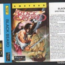 Videojuegos y Consolas: BLACK BEARD DE ALFONSO AZPIRI CARÁTULA DE VÍDEO-JUEGO AMSTRAD SIN USAR. Lote 143102454