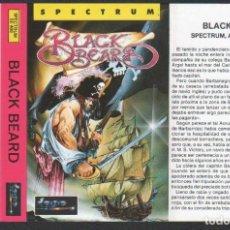 Videojuegos y Consolas: BLACK BEARD DE ALFONSO AZPIRI CARÁTULA DE VÍDEO-JUEGO SPECTRUM SIN USAR. Lote 143102470
