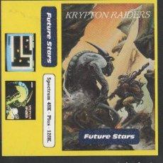 Videojuegos y Consolas: KRYPTON RAIDERS DE ALFONSO AZPIRI CARÁTULA DE VÍDEO-JUEGO SPECTRUM MSX SIN USAR. Lote 146815200