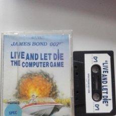 Videojuegos y Consolas: VIDEOJUEGO CASETTE SPECTRUM JAMES BOND 007 LIVE AND LET DIE. Lote 143804998