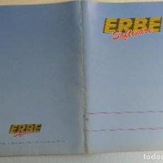 Videojuegos y Consolas: ERBE SOFTWARE SPECTRUM-AMSTRAD MSX CARPETA USO INTERNO-COLECCIONISTAS. Lote 144764694