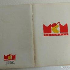 Videojuegos y Consolas: MCM SOFTWARE SPECTRUM-AMSTRAD MSX CARPETA USO INTERNO-COLECCIONISTAS. Lote 144764762