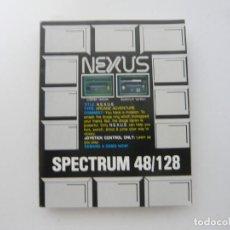 Videojuegos y Consolas: NEXUS / SINCLAIR ZX SPECTRUM / CASSETTE. Lote 145528970