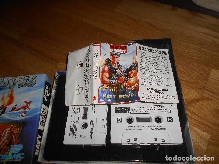 Videojuegos y Consolas: JUEGO SPECTRUM NAVY MOVES CAJA CARTON COMPLETO DOBLEBUEN ESTADO INCLUYE POSTER Y PAPELES - Foto 3 - 146913426