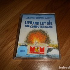 Videojuegos y Consolas: JAMES BOND 007 LIVE AND LET DIE THE COMPUTER GAME SPECTRUM/JUEGO PARA ORDENADOR SPECTRUM JAMES BOND. Lote 147775466