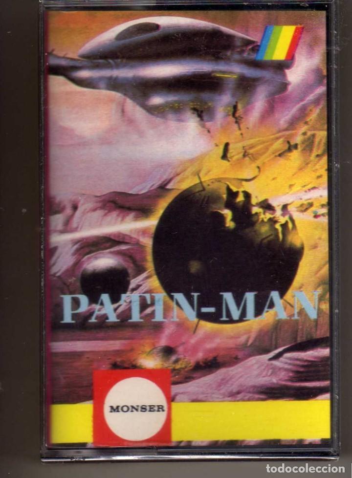 CASETE JUEGO SPECTRUM PATIN-MAN MONSER, PRECINTADO (Juguetes - Videojuegos y Consolas - Spectrum)