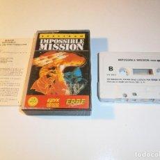 Videojuegos y Consolas: JUEGO DE SPECTRUM - IMPOSSIBLE MISSION - CAJA PEQUEÑA - ERBE. Lote 148797594