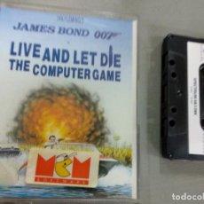 Videojuegos y Consolas: VIDEOJUEGO CASETTE SPECTRUM JAMES BOND 007 LIVE AND LET DIE. Lote 151272822