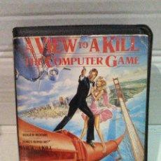 Videojuegos y Consolas: A VIEW TO A KILL PANORAMA PARA MATAR 007 JAMES BOND SPECTRUM ESTUCHE ANCHO DOMARK. Lote 151393934
