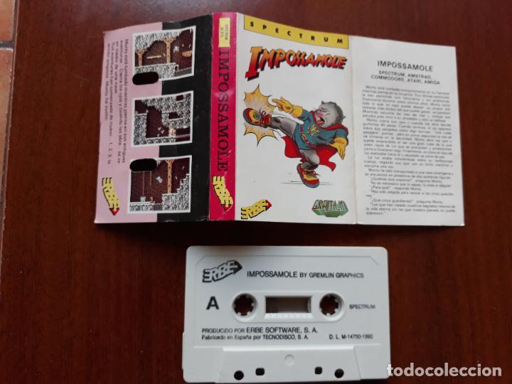 Videojuegos y Consolas: Videojuego impossimole spectrum- casete erbe 1990 - Foto 2 - 154520126