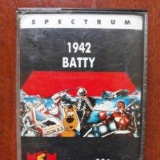 Videojuegos y Consolas: VIDEOJUEGO 1942 BATTY SPECTRUM- CASETE 1989. Lote 154521558