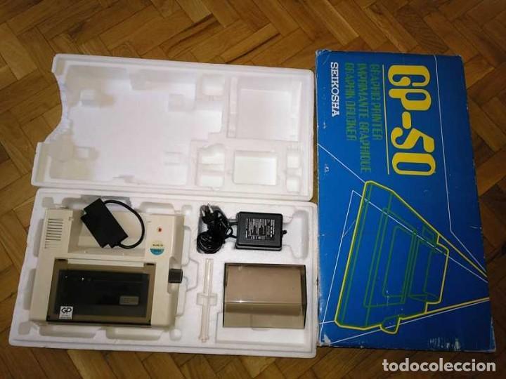 Videojuegos y Consolas: IMPRESORA SEIKOSHA GP-50S COMPATIBLE SINCLAIR SPECTRUM & ZX81 - PRINTER IMPRIMANTE DRUNCKER GP50S - Foto 56 - 155686126