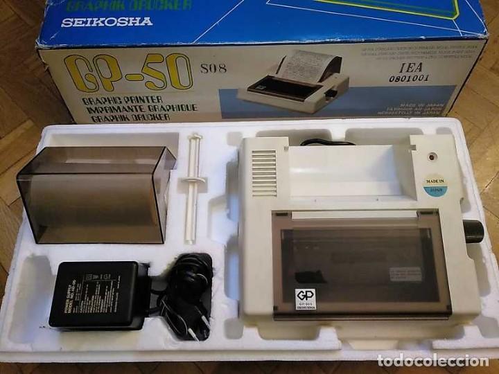 Videojuegos y Consolas: IMPRESORA SEIKOSHA GP-50S COMPATIBLE SINCLAIR SPECTRUM & ZX81 - PRINTER IMPRIMANTE DRUNCKER GP50S - Foto 64 - 155686126