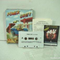 Videojuegos y Consolas: VIDEO JUEGO-POWER DRIFT - MSX-SEGA ACTIVISION MCM 1989-MUY COMPLETO-VIDEOJUEGO CASETE-CAJA CARTON . Lote 159292906