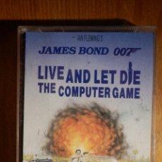 Videojuegos y Consolas: JUEGO DE CONSOLA PARA SPECTRUM - JAMES BOND 007 - LIVE AND LET DIE - DOMARK. Lote 159339334