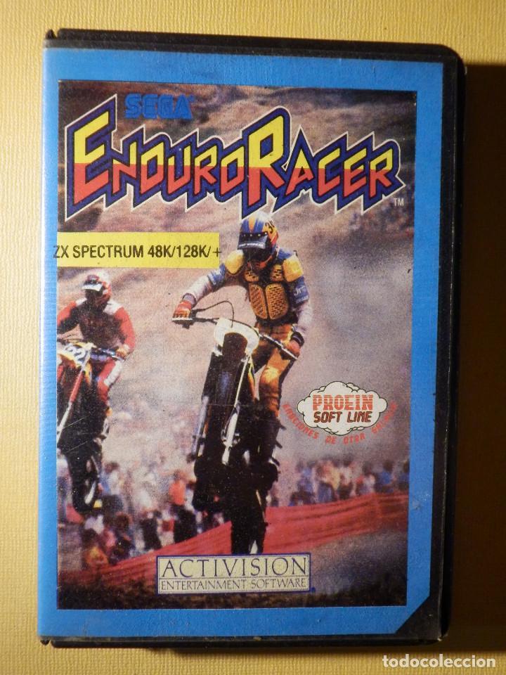 JUEGO PARA CONSOLA EN CINTA DE CASSETTE - ZX SPECTRUM - SEGA ENDURO RACER - PROEIN ACTIVISION 1987 (Juguetes - Videojuegos y Consolas - Spectrum)