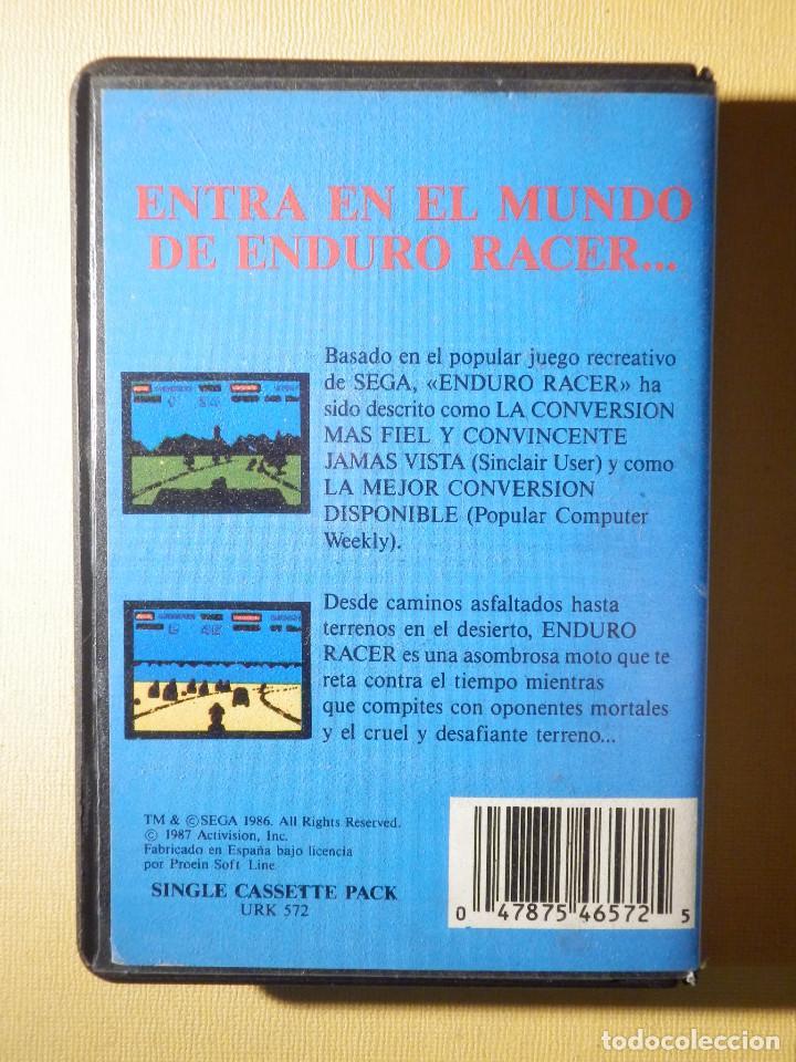 Videojuegos y Consolas: Juego para consola en cinta de cassette - ZX Spectrum - Sega Enduro Racer - Proein Activision 1987 - Foto 2 - 175760482