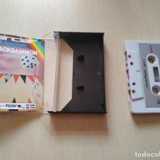 Videojuegos y Consolas: VIDEOJUEGO EN CASSETTE BACKGAMMON PARA SPECTRUM. Lote 161874886