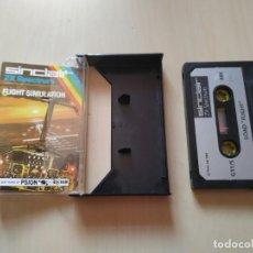 Videojuegos y Consolas: VIDEOJUEGO EN CASSETTE PARA SPECTRUM FLIGHT SIMULATION. Lote 161875230