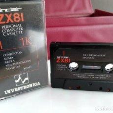 Videojuegos y Consolas: JUEGO PARA SPECTRUM INVESTRONICA ZX 81. Lote 165486030