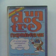 Videojuegos y Consolas: JUEGO DE SPECTRUM : UN, DOS , TRES RESPONDA OTRA VEZ . DE CHICHO IBAÑEZ SERRADOR - 1984. Lote 165838194