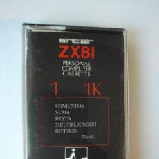 Videogiochi e Consoli: ZX81 EDUCACIÓN PERSONAL CASSETTE IVESTRONICA. Lote 166448410