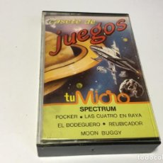 Videojuegos y Consolas: JUEGOS SPECTRUM TU MICRO POKER LAS CUATRO EN RAYA EL BODEGUERO REUBICADOR MOON BUGGY. Lote 170124100
