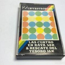 Videojuegos y Consolas: JUEGO SPECTRUM LAS CUATRO EN RAYA Y RESCATE DEL TESORO. Lote 170312424