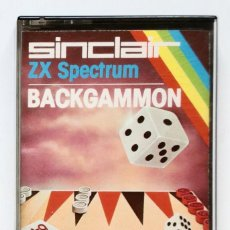 Videojuegos y Consolas: (1983) CASSETTE: SINCLAIR ZX SPECTRUM - BACKGAMMON - SOFTWARE BY PSION - 16K / 48K RAM. Lote 170412304