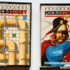 Videojuegos y Consolas: SINCLAIR SPECTRUM - MICROHOBBY Nº 6 + Nº 7 CASSETTES - (10 PROGRAMAS POR CINTA) . Lote 170412428