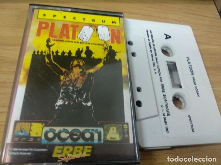 JUEGO ZX SPECTRUM Y COMPATIBLES - PLATOON (Juguetes - Videojuegos y Consolas - Spectrum)